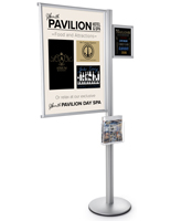 Floor Standing Multi Literature Poster Sign Display Post