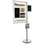 Aluminum Multi Literature Poster Sign Display Post