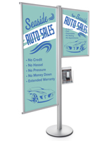 Quick Open Snap Frame Dual Offset Sign Display Stand