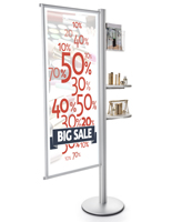 Retail Advertising Snap Frame Dual Offset Literature Display Stand