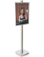 22x28 Snap Frame Display Stand on 6'h Pole