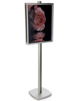 22x28 Sign Display Floor Stand on 6'h Pole