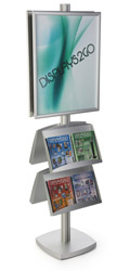 22x28 4 Pocket Poster Floor Stand for Trade Shows