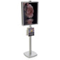 22x28 Floor Stand with Literature Holder, Weighted Base