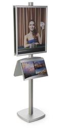 22x28 Metal Poster Literature Stand, Weighted Base