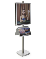22x28 Metal Poster Literature Stand, Quick Changing Graphics