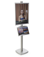 22x28 Snap Metal Frame with Literature Tray for Advertisements