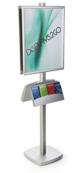 Modern 22x28 Dual Frame Stand with Literature Pocket