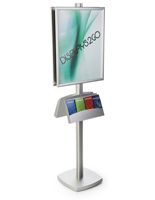 22x28 Dual Frame Stand with Literature Pocket & Square Base