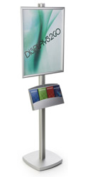22x28 Pedestal Poster Stand, Adjustable Accessories