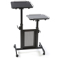 "Mobile Laptop Cart has (4) 3"" Heavy Duty Casters, 2 Lock"