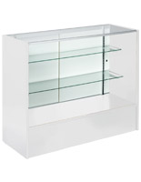 4' White Display Case