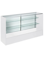 6' White Display Case