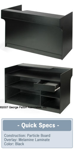 Retail Sales Counter 6 Foot Wide Cash Stand