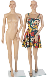Full Body Female Mannequin with Glass Base
