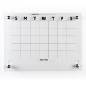 Clear whiteboard monthly planner