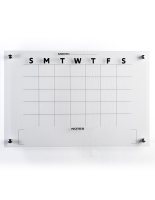 36 x 24 Lightweight 30-day calendar whiteboard