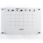 Clear Acrylic 30-day calendar whiteboard