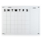 Dry erase marker board calendar scheduling tool