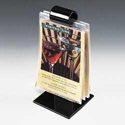 Black Menu Roll Single Ring Amp Clip Style Design