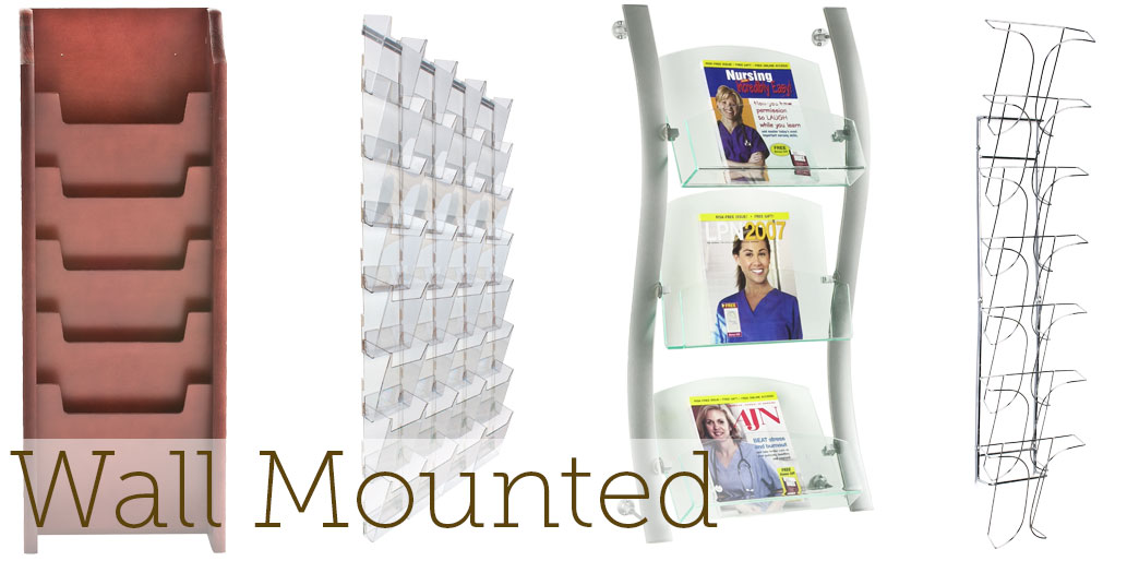 wall mounted magazine holders