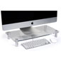 Polished Acrylic Clear Monitor Stand