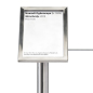 4 x 6 exhibit barrier 45-degree label holder