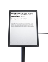 7 x 11 black angled gallery signage plate for stanchions