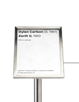 8.5 x 6 silver museum barrier label holder