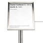 Silver 8.5 x 6 Museum barrier label holder for artist information
