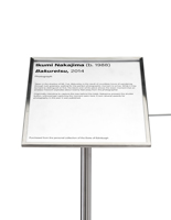 "Stanchion angled gallery sign holder cap recommended for 39"" high poles"