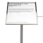 11 x 14 Silver large format stanchion angled gallery sign holder cap