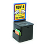 Black Ballot Box with Sign Holder