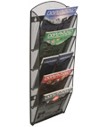 Hanging Mesh Magazine Rack, Hardware Included