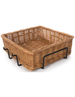 Square Wicker Basket Attachment with Woven Pattern