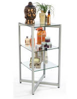 Floor Standing Tiered Glass Shelving Display