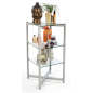 Tempered Tiered Glass Shelving Display