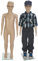 Realistic Child Mannequin with Tempered Glass Base