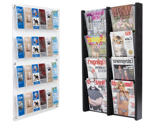 Multi-Pocket Wall Mount Literature Holders