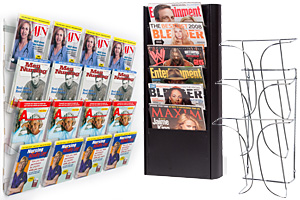 wall mount magazine racks with multiple pockets