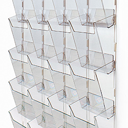 Plastic Wall Mounted Magazine Rack with Multiple Pockets