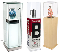 Museum showcase pedestals