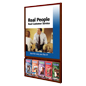 Wooden Poster Frame with Brochure Holders for Waiting Areas