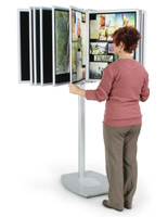 multi panel display stand