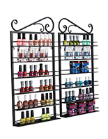 nail polish rack display with black frame