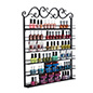 black nail polish rack with decorative scroll top