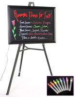 neon writing board