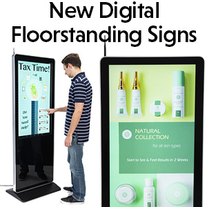 Floor-Standing Digital Signs