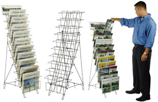 wire literature racks