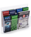 Wall Mount Combo Magazine Rack